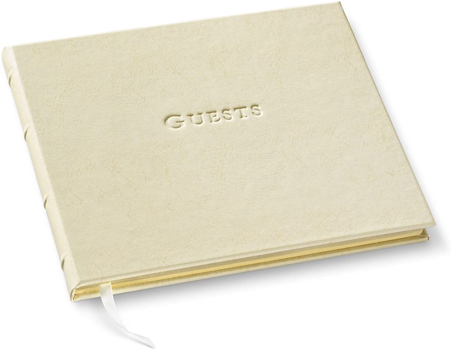 Guest Book Journal Leather Freeport Ivory