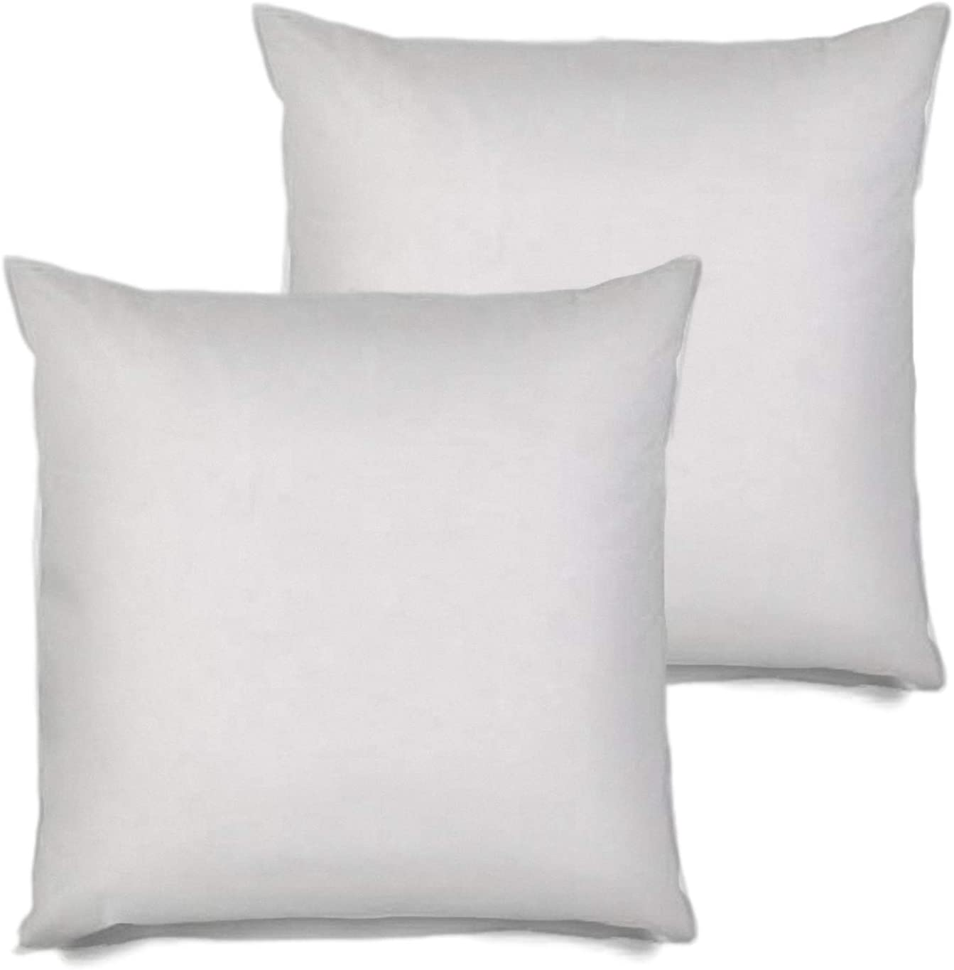 Amazon Com Msd 4 Pack Pillow Insert 22x22 Hypoallergenic Square Form Sham Stuffer Standard White Polyester Decorative Euro Throw Pillow Inserts For Sofa Bed Made In Usa Set Of 4 Machine