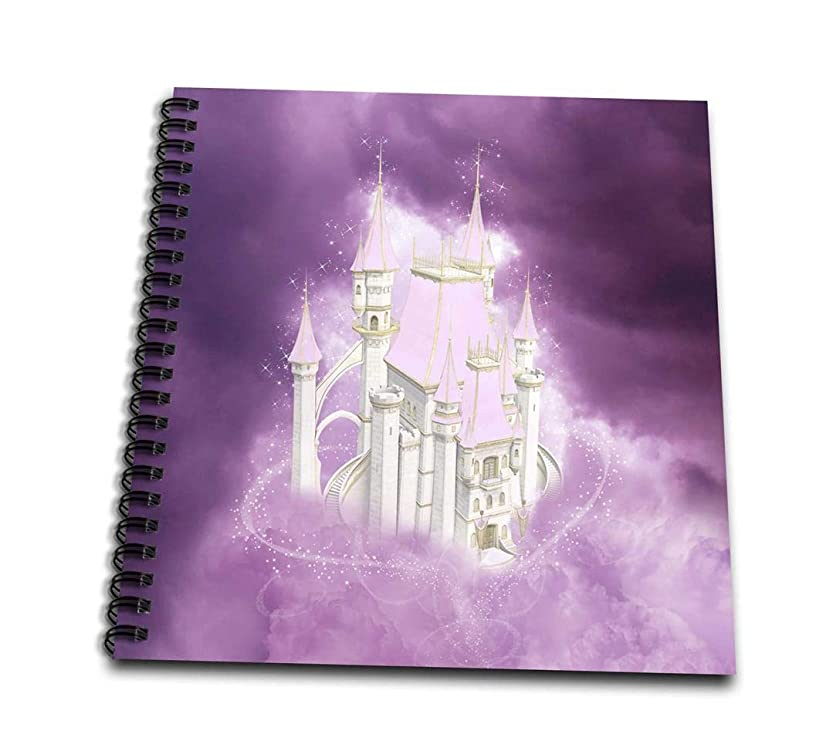 3dRose db_172247_1 Pink Fairytale Castle in Clouds-Drawing Book, 8 by 8-Inch