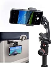 Perilogics Airplane, Tripod, Desktop Phone Holder. Dual 360 Rotating Bracket and Strong Clamp for Best Viewing Angle. US Patent No.: US10,272,847 B1.