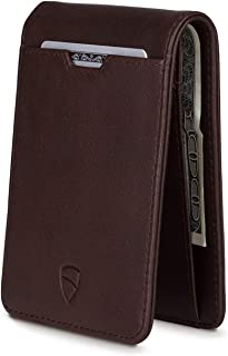 Vaultskin MANHATTAN Slim Bifold Wallet with RFID Protection for Cards and Cash (Brown)