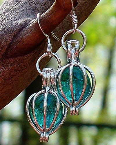 Recycled Vintage Mason Jar Drop Earrings
