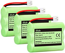 iMah 89-1323-00-00 Battery Pack Compatible with AT&T 27910 Motorola SD-7501 Vtech I6725 RadioShack 23-959 Cordless Phone 3.6V Ni-MH, 3-Pack