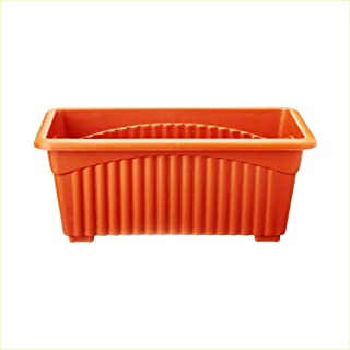 First Smart Plastic Rectangle Pot (13-inch, Brown, Pack of 2)