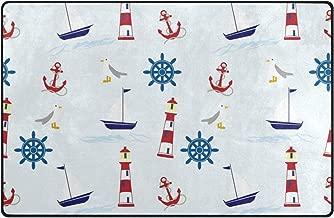 pengyong Nautical Wallpaper Pattern Non-Slip Door Mat Home Decor Door Carpet Entry Rug Floor Mat for Outdoor/Indoor Uses