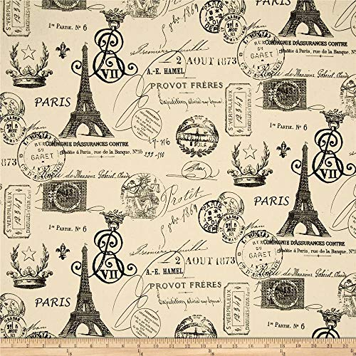 Premier Prints French Stamp, Yard, Onyx/Natural