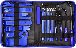 Ccoco 19 peças de ferramenta de remoção de acabamento, kit de ferramentas de remoção de áudio para porta do painel do carr...