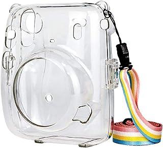 Prettyia Capa protetora de cristal, compatível com câmera instantânea Instax Mini 11, capa rígida de policarbonato, com al...