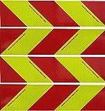 UvV Oralite Flexible rot gelbe Kfz Warnmarkierung TPESC 13223 Set mit 8 Normflächen (Klebefolie)