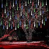 Cadena de Luces LED,SUAVER Impermeable Meteoros Lluvia Luces 10 tubo de Luces Solar 360LEDs Luces de jardín,Guirnalda de Luzs para Fiesta de Boda de Decoración del árbol de Navidad(Multicolor)