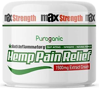 Crema de Cáñamo Anti-Dolor 1500 mg | Calidad Superior, Extracto Natural de Cáñamo, Cúrcuma, Árnica, MSM para Aliviar la Te...