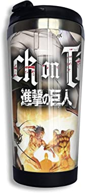 Attack On Titan Travel Mug Tumbler With Lids Thermos Coffee Cup Vacuum Insulated Flask Stainless Steel Water Bottle 13.5oz/40