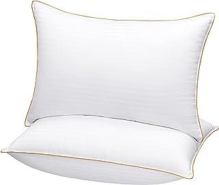 5 STARS UNITED Lot de 2 oreillers de luxe King Size - 50 x 90 cm - Oreiller de qualité hôtelière pour dormir - Ultra doux...