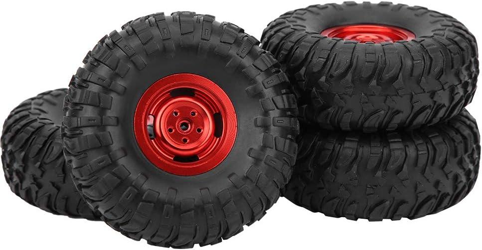 Dilwe RC Autoreifen RC Metallgummireifen Reifen Ersatz Ersatz Kompatibel mit MN90 91 99 99S 1//12 RC Car Crawler rot
