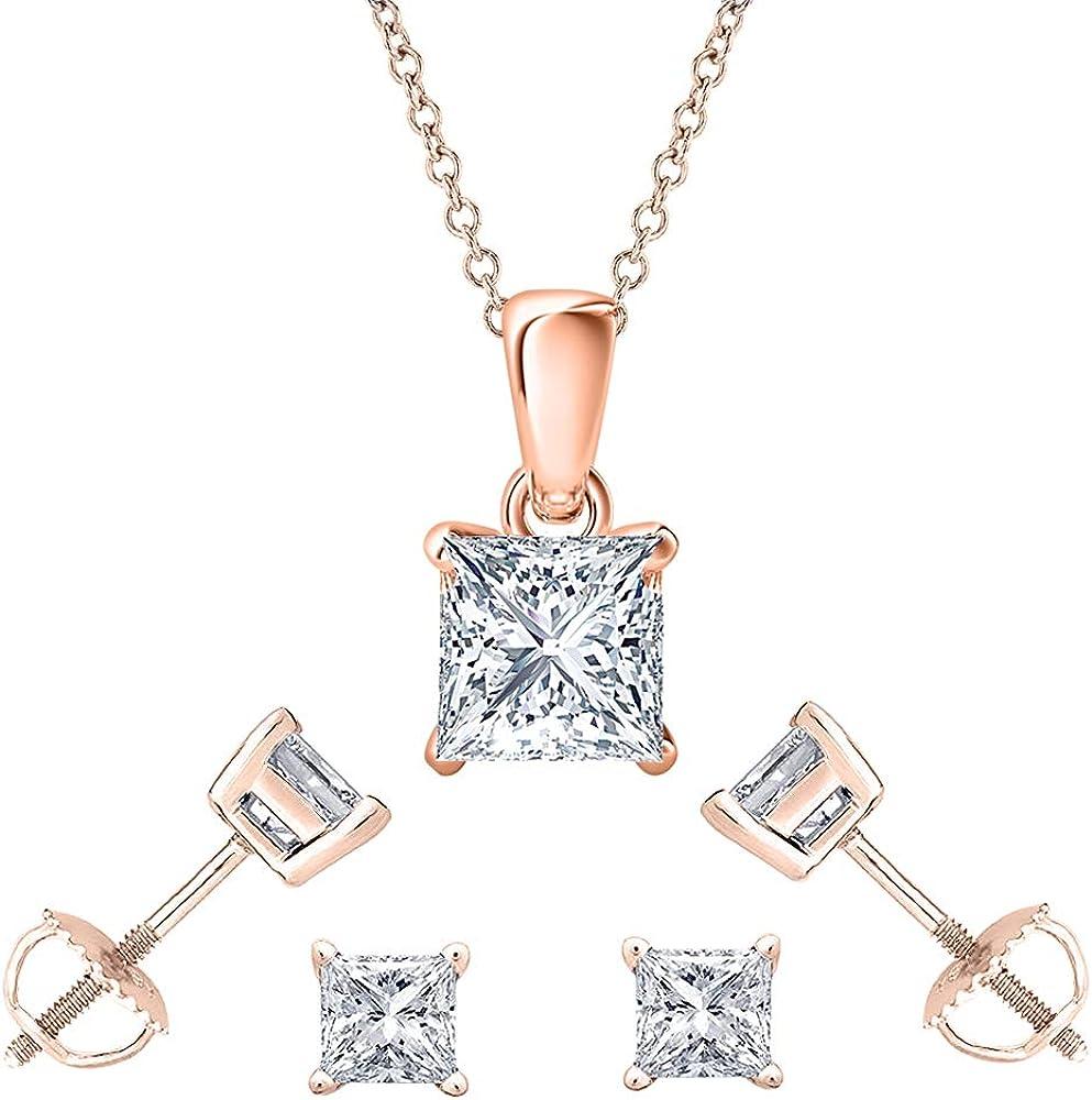 Dabangjewels Brilliant 3mm Department store to 10mm Princess Diamond Cut 14 wholesale White