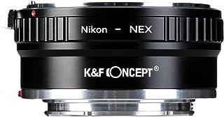K&F Concept Lens Mount Adapter for Nikon Nikkor AI Lens to Sony NEX E-Mount Camera, fits Sony NEX-3 NEX-3C NEX-3N NEX-5 NE...