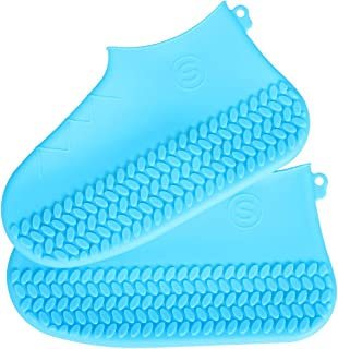 BENPIN Silicone Shoe Covers 1 Pair, Waterproof Reusable Foldable Convenient Rain Boots Non Slip Design for Kids Women Men for Rain, Cycling, Outdoor, Camping, Fishing, Garden, Travel