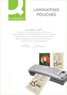 Q-Connect KF24055 Laminating Pouch A4 Matt 125-Micron (Pack of 100)