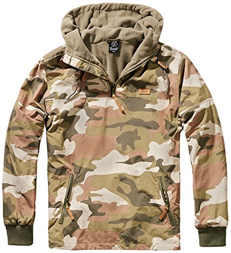 Brandit Herren Jacke Luke Windbreaker Light Woodland 3XL