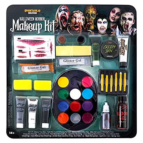 Spooktacular Creations 26 Pcs Halloween Family Makeup Kit, Zombie Makeup, Face Paint...