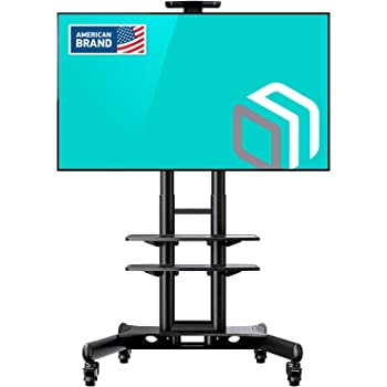 ONKRON TSC1881 Wht Carro TV, Soporte para Television móvil con Ruedas para Pantallas LCD, LED, QLED de 55