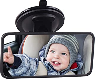 Baby Car Mirror Suction Cup, Baby Mirror for Car Seat Forward Facing Mirrors for Infant, Carseat Back Seat Backseat Child ...