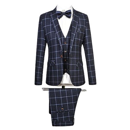86c1bbf8f70 MOGU Mens Blazer Jacket Tux Vest   Trousers 3 Piece Suit