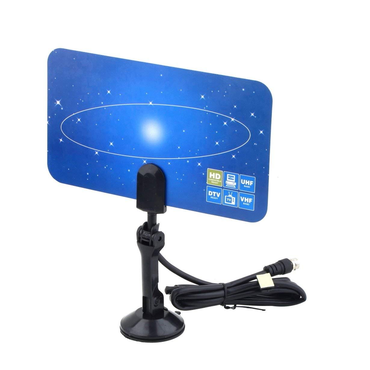 Antena de TV Digital para Interiores HDTV DTV Box Ready HD VHF UHF Diseño Plano Trabajo de Alta Ganancia Excelente con Cajas de convertidor de televisores Digitales: Amazon.es: Electrónica