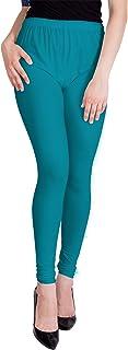 American-Elm Women's Churidaar Cotton Legging- Turquoise
