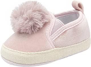 Sneaker for Baby,Dainzuy Newborn Baby Boys Girls Flock Crib Soft Sole Anti-Slip Shoes (Age:12-18M UK:3 US:4, Pink)