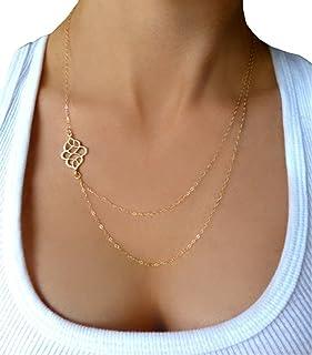 YiyiLai Bracelet de Cheville Large Femme Cristal Cha/îne Bijoux Fantaisie Multirang Plage Soir/ée