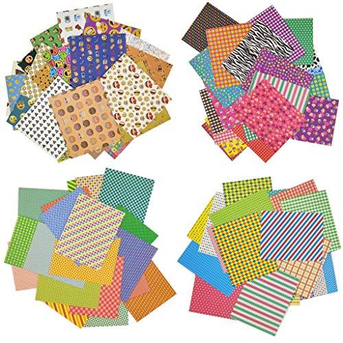Jinshen 80 hojas coloridas de 4 estilos para fotos de fotos de...