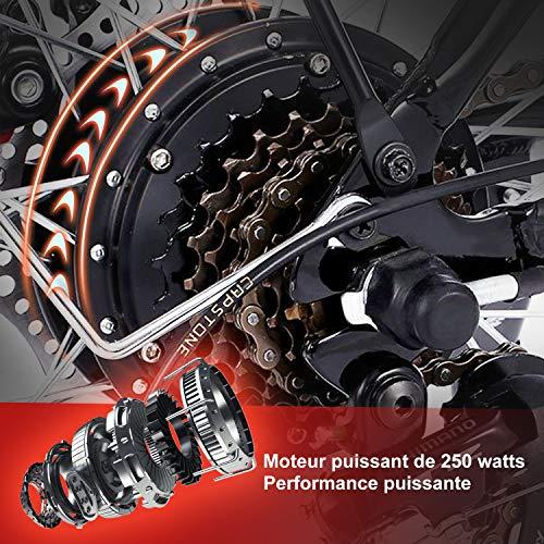 Speedrid Vélo Electrique, 2019 26 Plus/26/20 pneus VTT Electrique Homme sans Balai de 250 W et Batterie au Lithium 36V 8Ah/ 12Ah Shimano 21/7 Vitesses (Livraison Rapide en République tchèque)