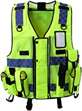 Reflective Vest High Visibility Warning Safety Vest Clothing Multi Pockets Security Guard Traffic Reflection Clothes