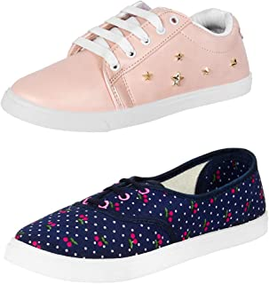 Shoefly Women Combo Pack of 2 Casual Sneakers Shoes