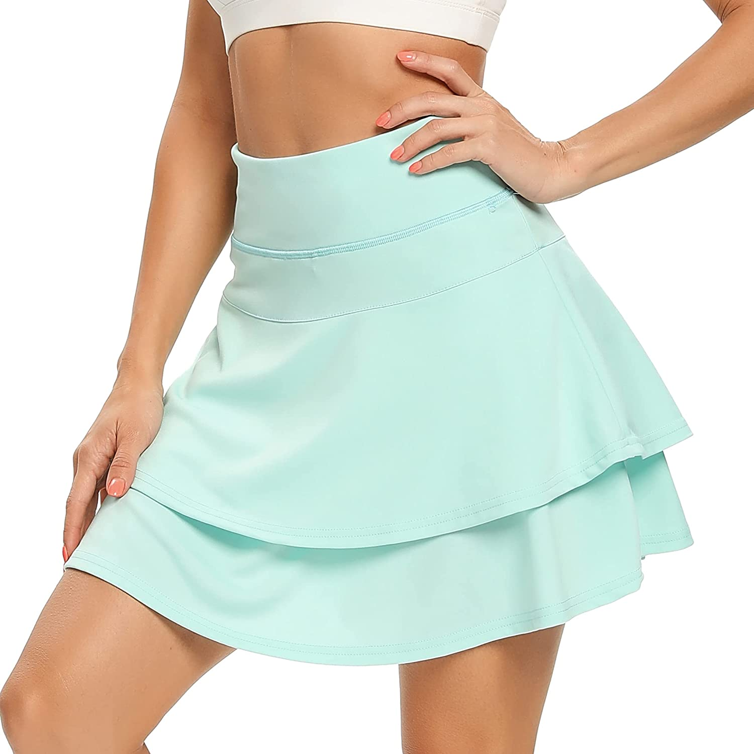 WOWENY Women's Cheap sale Active Skort Athletic Ruffle Pleated Tennis Manufacturer OFFicial shop Skirt