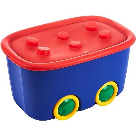 Kis 8630000 0008 04 Boîte de Rangement Funny Box 46 litres en Bleu-Rouge, Plastique, 58x38,5x32 cm