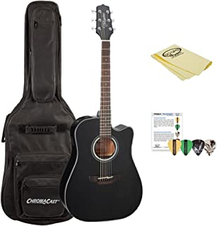 Takamine 6 String Acoustic-Electric Guitar GD30CE BLK-KIT-1