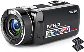 Camcorder Camera Digital Camera 1080P 24.0MP 3.0 inch Touch Screen Video Camera with Remote Control and Two Batteries (B7)
