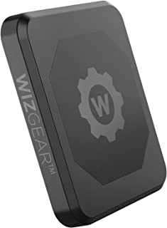 WizGear Rectangle Flat Stick On Dashboard Magnetic Car Mount Holder for Cell Phones and Mini Tablets with Fast Swift-Snap Technology - Extra Slim