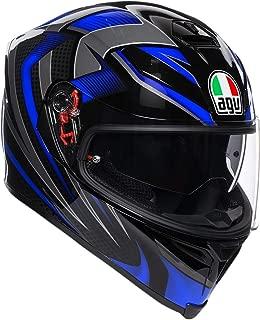 AGV Unisex-Adult Full Face K-5S Hurricane 2.0 Motorcycle Helmet (Blue, Medium/Large)