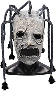 Corey Taylor Mask Dreadlocks Slipknot Fancy Dress Halloween Cosplay Music Party Prop