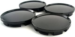 63mm Black ABS Car Wheel Center Hub Caps Base Set of 4