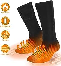 Elektrisch Thermosocken Beheizbare Socken Heated Sneaker Socks mit Wiederaufladbare Batterien f/ür Weihnachten Wandern Camping Angeln Socken Sylanda Beheizte Socken f/ür Damen und Herren