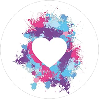 1art1 Silhouettes Sticker Adhesive Decal - Love Heart, Paint Splatters (4 x 4 inches)
