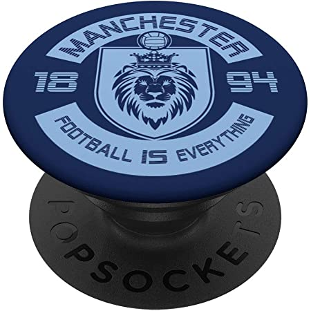 City of Manchester Football Soccer Futbol Fan PopSockets Grip and Stand for Phones and Tablets PopSockets
