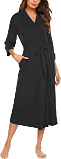 Women Kimono Robes Cotton Lightweight Long Robe Knit...
