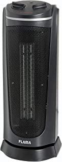 Flama 2313FL Interior Negro 2000W Radiador/ventilador - Calefactor (Radiador/ventilador, Interior, Negro, Giratorio, 2000 W, 1000 W)