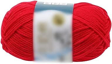 Kriser Bricolaje 50G algodón Hilado Leche Chunky Tejida Mano Crochet de Hilo Caliente Suave para los suéteres Sombreros Pañuelos, Rojo