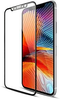iPhone XS ガラスフィルム 自動吸着【新発売 4D曲面全面保護 ふち紋様付き】 日本旭硝子素材採用 強化ガラス 液晶保護フィルム 高透過率 硬度9H 気泡レス アイフォン X 用